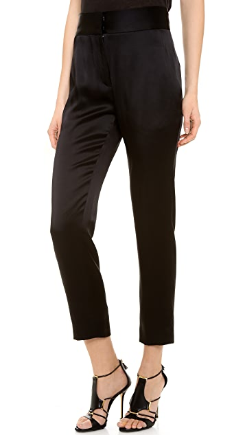J. Mendel Slim High Waisted Pants