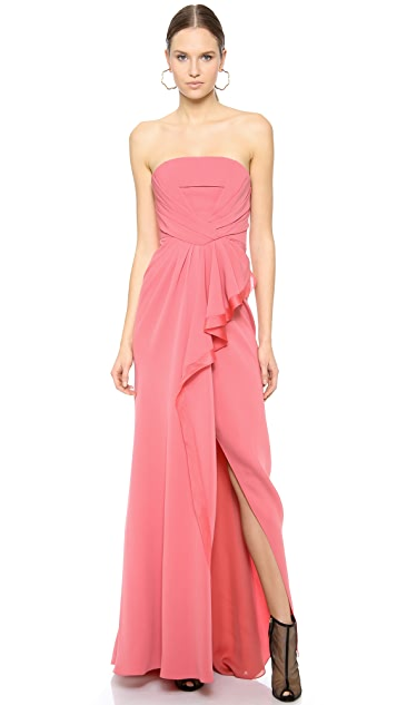 J. Mendel Strapless Bustier Gown