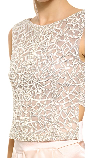 J. Mendel Pearl Mosaic Sleeveless Top