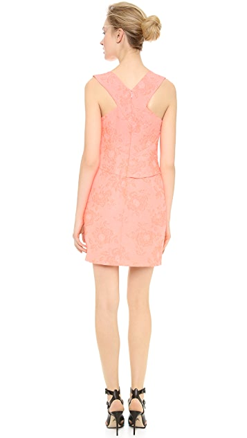 J. Mendel Draped V Neck Dress
