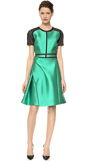 J. Mendel Silk Crew Neck Dress