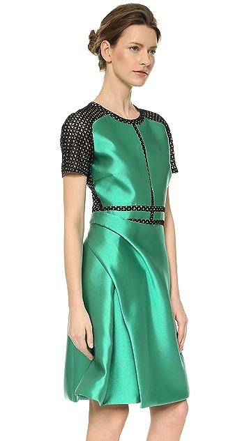 J. Mendel Silk Crew Neck Dress