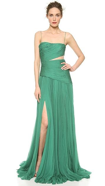 J. Mendel Pleated Asymmetrical Gown