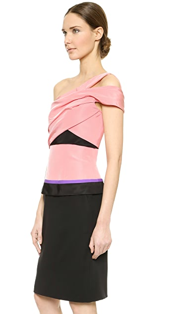 J. Mendel One Shoulder Dress