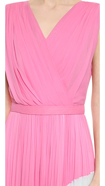 J. Mendel Colorblocked Pleated Gown