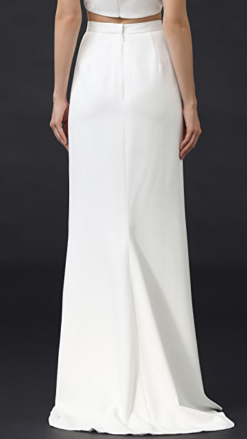 J. Mendel Floor Length Mermaid Skirt