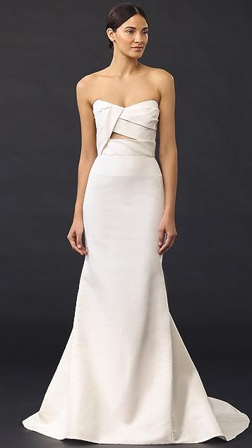 J. Mendel Adelaide Strapless Bustier Gown