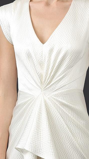 J. Mendel Monika Sleeveless V-Neck Gown