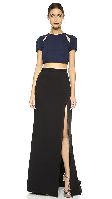 J. Mendel Skirt with High Slit Detail