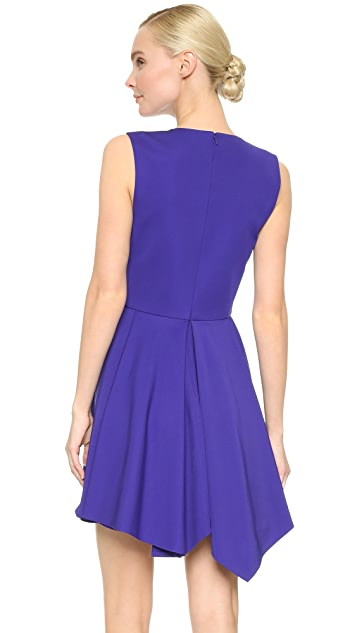 J. Mendel Pleated V Neck Dress
