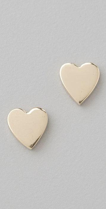 Jennifer Meyer Jewelry Heart Stud Earrings