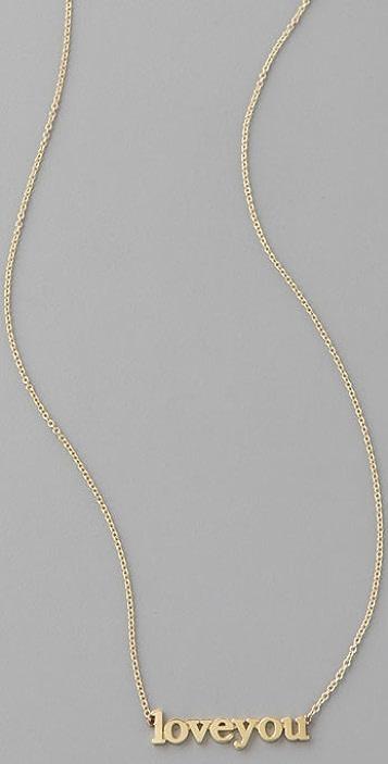 Jennifer Meyer Jewelry Love You Necklace