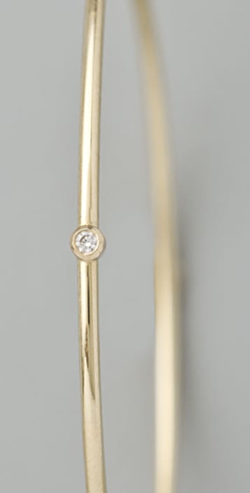 Jennifer Meyer Jewelry Medium Hoops with Diamond