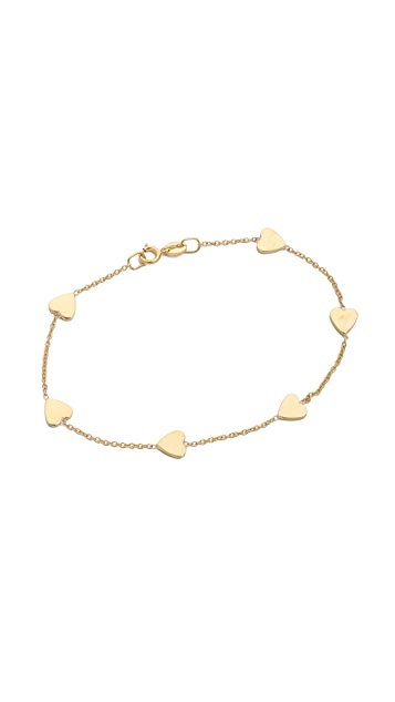Jennifer Meyer Jewelry Heart by the Inch Bracelet