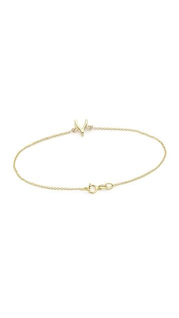 Jennifer Meyer Jewelry 18k Gold Wishbone Bracelet
