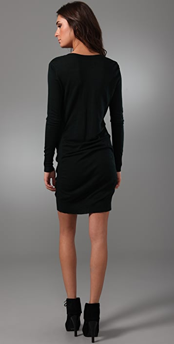 JNBY Ruched Sweater Dress