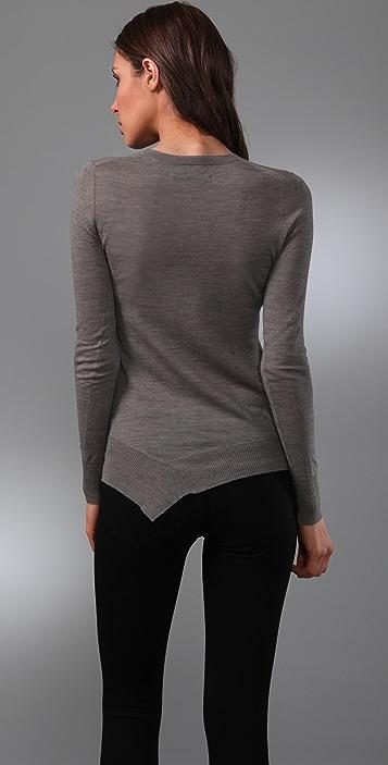 JNBY Crew Neck Sweater with Asymmetrical Hem