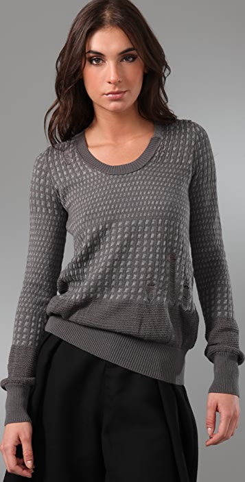JNBY Crew Neck Intarsia Sweater
