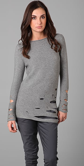 JNBY Cutout Tunic Sweater