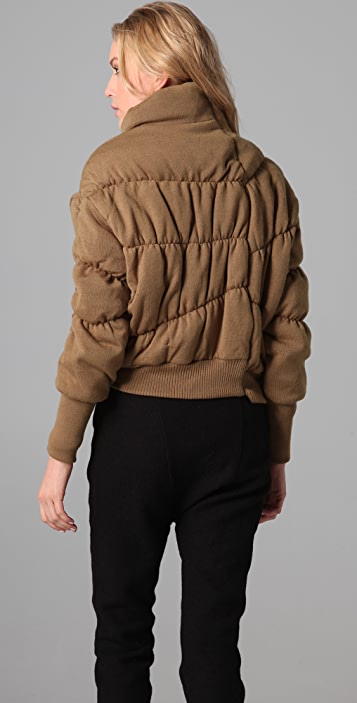 JNBY Gathered Knit Puffy Coat