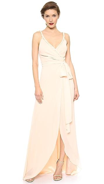 Joanna August The Parker Twist Strap Wrap Dress   SHOPBOP