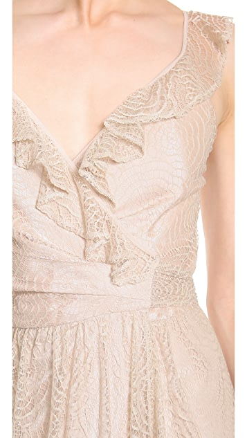 Joanna August Lacey Lace Ruffle Dress
