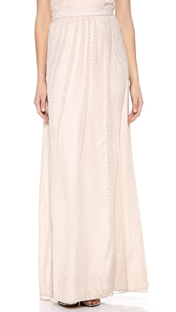 Joanna August Whitney Lace Wrap Maxi Skirt