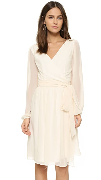 Joanna August Holly Long Sleeve Wrap Dress