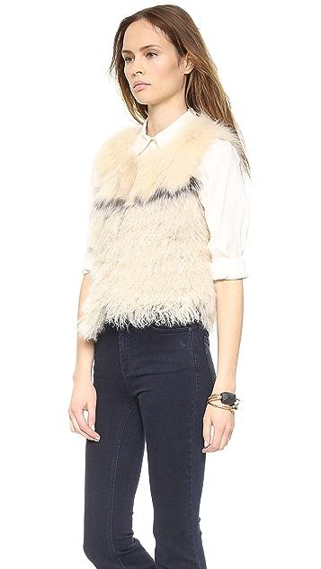 Jocelyn Fur Combo Vest