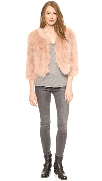 Jocelyn Marabou Feather Bolero