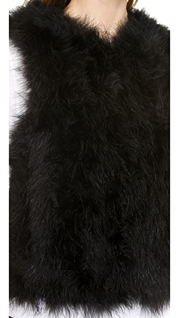 Jocelyn Marabou Feather Vest