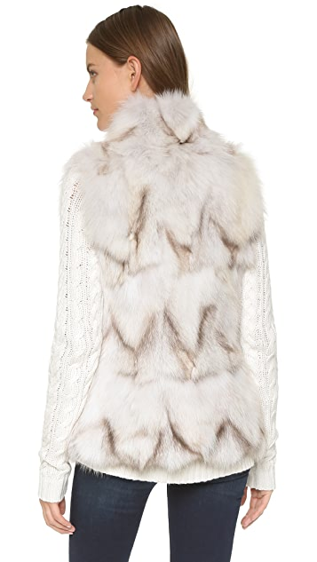 Jocelyn Natural White Fox Vest