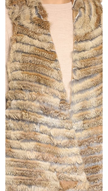 Jocelyn Asymmetrical Fur Vest