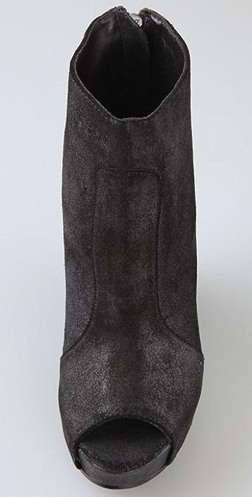 Joe's Jeans Ultra Suede Wedge Booties