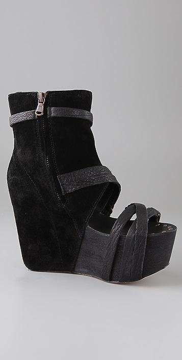 Joe's Jeans Bijou Suede Wedge Booties