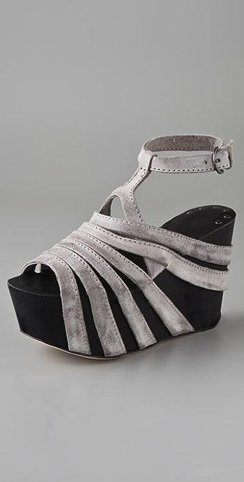 Joe's Jeans Briggs Suede Wedge Sandals