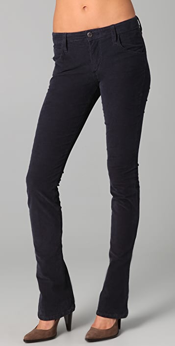 newest collection meticulous dyeing processes Clearance sale Skinny Micro Flare Corduroy Pants