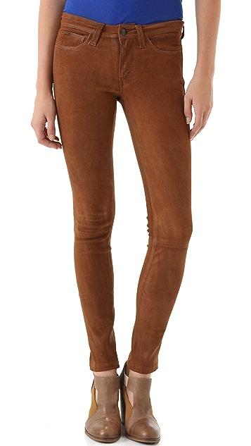Joe's Jeans The Skinny Suede Pants