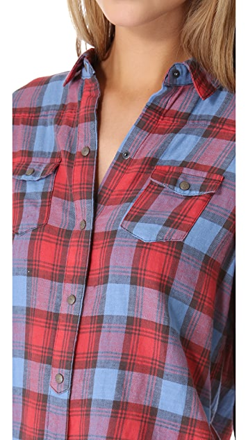 Joe's Jeans Plaid Button Down Shirt