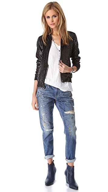 Joe's Jeans Sequins Teddy Jacket