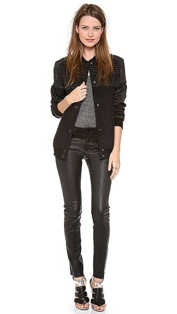 Joe's Jeans Moto Chap Leather Skinny Pants