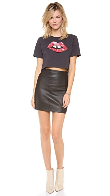 Joe's Jeans Jessica Leather Skirt