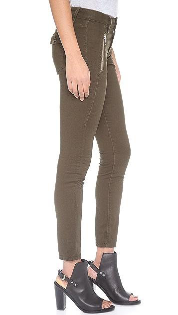Joe's Jeans Oblique Zip Skinny Jeans