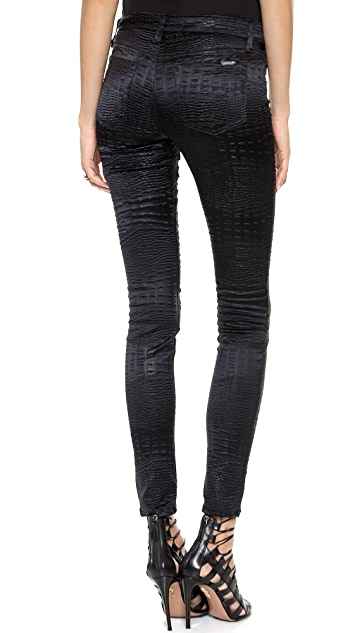 Joe's Jeans Mid Rise Croc Leggings