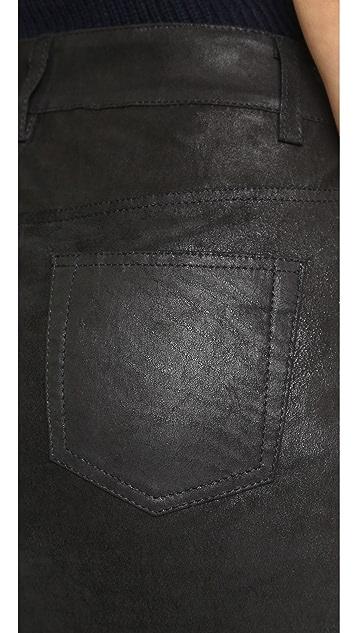 Joe's Jeans Slit Leather Pencil Skirt