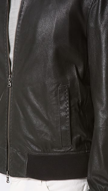 John Varvatos Star USA Suede Bomber Jacket