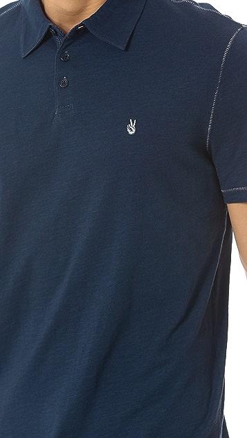 John Varvatos Star USA Soft Collar Peace Polo