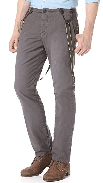 John Varvatos Star USA Slim Suspender Pants