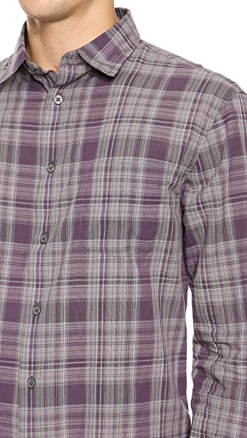 John Varvatos Star USA Slim Fit Plaid Shirt
