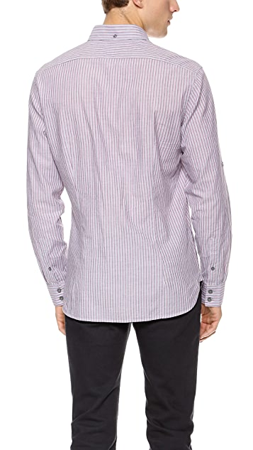 John Varvatos Star USA Vertical Stripe Shirt